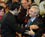 Conducter Premil Petrović and composer Benjamin Yusupov