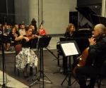 Mirjana Nešković, violina Neda Hofman, klavir Srđan Sretenović, violončelo