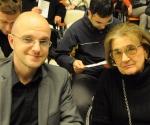 Kompozitor Ivan Brkljačić i muzikolog Donata Premeru