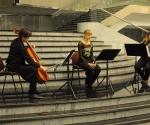 Karolina Beter, blok-flauta Jelena Dimitrijević, violina i Ivana Grahovac, violončelo