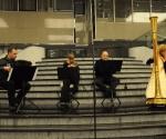 Milana Zarić, harfa, Karolina Beter, blok-flauta,Nenad Marković, truba i Vladimir Blagojević, harmonika