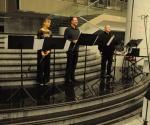Karolina Beter, blok-flauta, Borislav Čičovački, oboa i Nenad Marković, truba