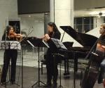 Dušica Mladenović, violina Ana Gnjatović, glas i blok flauta Uroš Jovanović, kontrabas