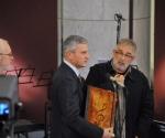 Rajko Maksimović, kompozitor; Nebojša Bradić, ministar kulture i Zoran Erić, kompozitor