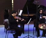 Jasna Tucović, klavir, Ivan Knežević, violina, Aleksandar Latković, violončelo