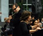 Bijana Radovanović, dirigent Ljubiša Jovanović, flauta