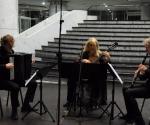 Quo Vadis, Ljubljana Klara Tomljanovic, gitara Luka Juhart, harmonika Uros Rojko, klarinet