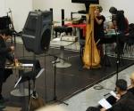 Milana Zarić, harfa i Pepe Garsija Rodrigez, udaraljke