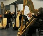 Beogradski kvartet harfi: Ljiljana Nestorovska, Milena Stanišić, Ivana Pavlović i Dijana Sretenović