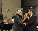 Trajković čestita dirigentu Pejčiću i solisti Marini Neandović