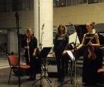 Marina Nenadović,flauta Neda Hofman,klavir Aleksandra Milanović, violina
