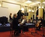 Marina Nenadović, flauta, Jelena Dimitrijević, violina, Srđan Sretenović, violončelo i Neda Hofman, klavir izvode kompoziciju Ade Đentile (Italija)