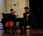 Nikola Peković, harmonika i Nemanja Stanković, violončelo