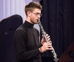 Rastko Uzunović, klarinet izvodi delo Teodore Stepančić