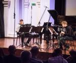 Kompoziciju Ljubomira Nikolića izveli su Rastko Uzunović, klarinet i Đorđe Vasiljević, harmonika