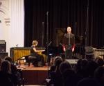 Vladimir Dinić, bariton i  Bojana Šumanjski, klavir izvode kompoziciju Milana Aleksića