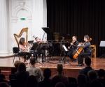 Tijana Milošević i Ksenija Milošević, violine, Boris Brezovac, viola i Nemanja Stanković, violončelo izveli su kompoziciju Hatorija Šimizija