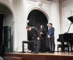 Ivan Bašić, klavir, Vladimir Korać, elektronika sa kompozitorom Predragom Repanićem