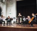 Katarina Jovanović, mecosopran, Mirjana Nešković i  Jelena Dimitrijević,  violine Nataša Petrović, viola, Nemanja Stanković, violončelo izveli su kompoziciju Isidore Žebeljan